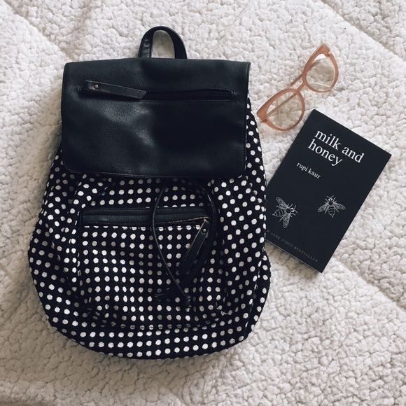 b29d0916f $2 SALE Madden Girl Drawstring Polka Dot Backpack.  M_5c477d2ba5d7c6039b2d89ba